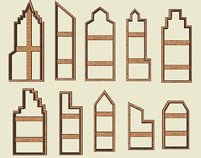 10 Building Silhouette Cookie Cutter 3D printable model 1