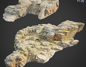 3d scanned rock cliff X