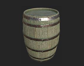 old Barrel 3D asset realtime