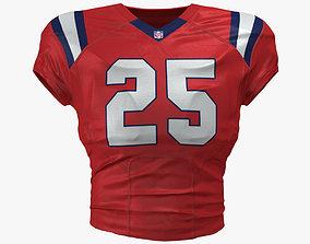 3D model New England Patriots Football Top Uniform