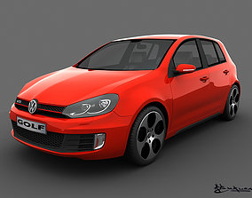 3D model Volkswagen Golf GTI 5doors 2010