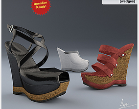 3D model Shoes-11 wedges