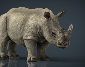 3D model game-ready White Rhinoceros