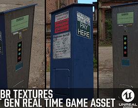 Parking Meter Ticket Automat Next Gen PBR Real 3D model 1