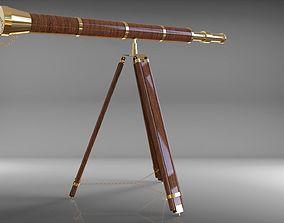 3D model telescope antique