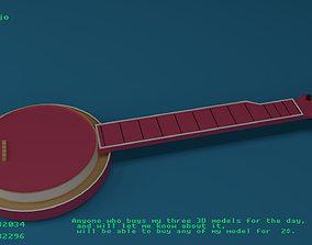3D Baby banjo