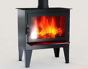 3D animated wood Stove