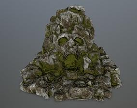 skull gate 3D model low-poly mount