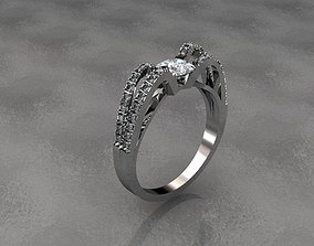 3D printable model engagement ring jewelry rings