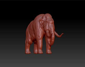 Mammoth African animal statue 3D printable model