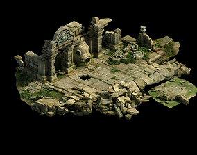 3D Kashayana Buddha Forest Four Kings Hall ruins