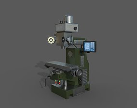 Milling Machine - Low Poly Model 3D asset