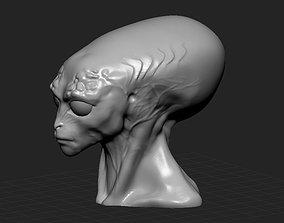3D print model Alien head statue