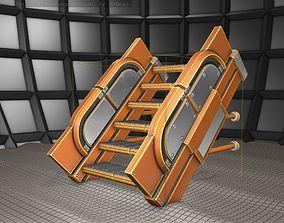 3D asset Sci-Fi Stairs - 21 - Orange Version