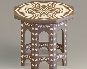 3D model Free Moroccan painted table