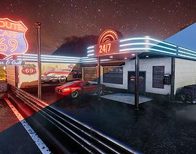 3D model Cafe 69 Neon Realism