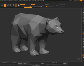 Bear Low Poly 3d print
