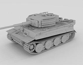 Panzer Tiger Tank Clay 3D