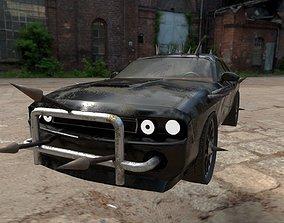 3D asset Apocalypse Car Dodge Challenger