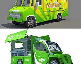 3D model Set of 2 Food Trucks
