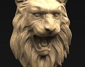art Lion Relief 3D model