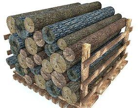 Wood Log Low Poly 3D asset VR / AR ready