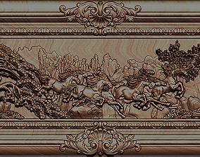 3D printable model Horse relief for CNC - v03