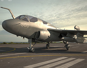 Northrop Grumman EA-6B Prowler ea6b 3D model