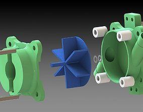 Water pump the 3D print model