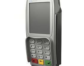 3D Electronic terminal cashless payment Veri Fone