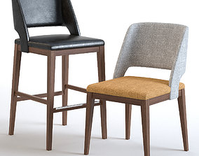 3D Chair Ottostelle Morgan