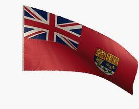 3D asset Canada Flag