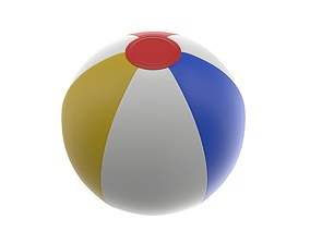 3D PBR Beach ball