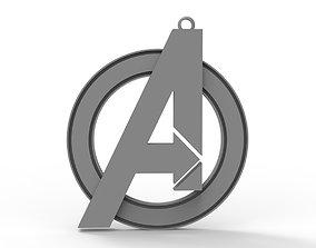3D model Avengers Logo