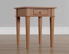 Sad Brown Storage End Table 3D model