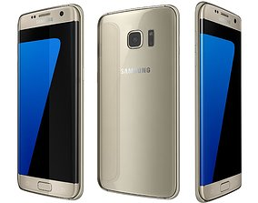 Samsung Galaxy S7 Edge Gold 3D model