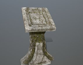 lectern 3D asset game-ready