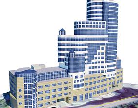 skyscraper concrete 3D model low-poly
