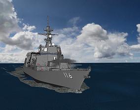 3D Akizuki Class Destroyer