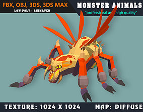 Low Poly Spider Monster 31 Animated - Game Ready 3D asset