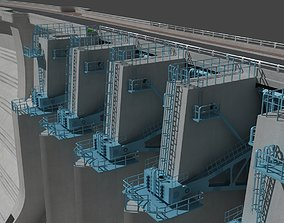 3D Dam Sluice gate