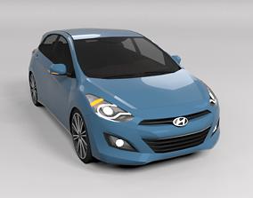 3D asset HYUNDAI I30 LOWPOLY
