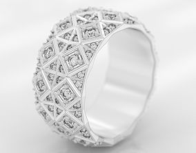 Exclusive ring with a crystal surface 3D print model