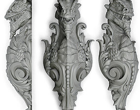 3D print model dragon bracket