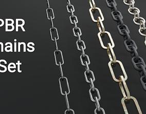 PBR Chains Set 3D model