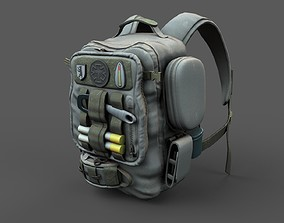 Backpack low poly human generic 3D asset