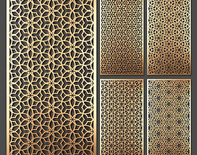 Decorative panel set 46 3D model