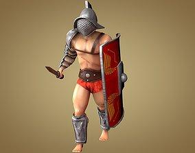 3D model Gladiator Murmillo
