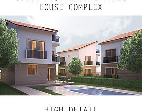 Villa Residential - Three House Complex 3D