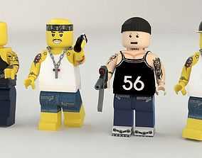 Lego Robbers mini Pack two 3D